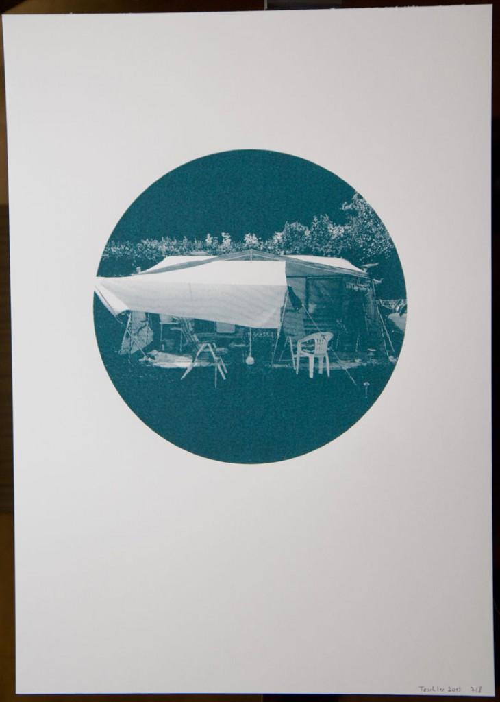 "silkscreen print ""Camping"""